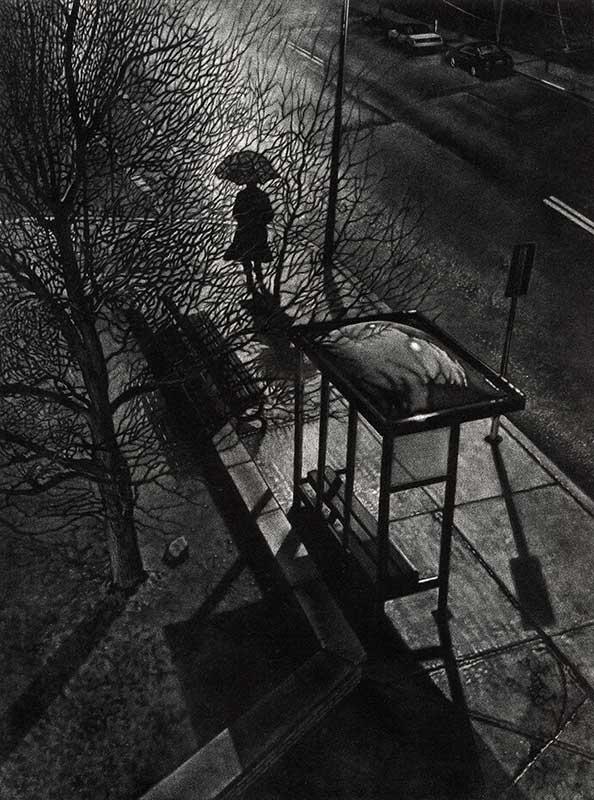 walking on dark street