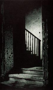doors open to stairs