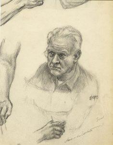 pencil drawing of man