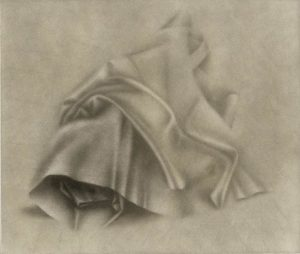 black and white image of fabric