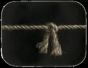 mezzotint image of a knot