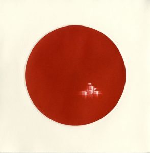 red circle with geometric features